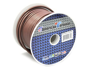 American Terminal ATPW12-100BR 12 Gauge Primary Wire, Brown