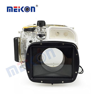 Meikon 40M/135ft Digital Camera Waterproof Underwater Housing Case for Canon G1X