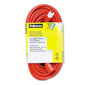 FEL99598 - Fellowes Heavy Duty Indoor/Outdoor 50 Extention Cord