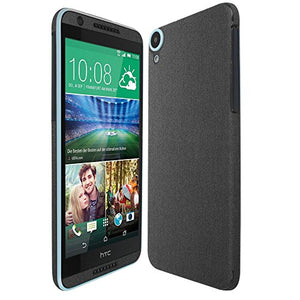 Skinomi Brushed Steel Full Body Skin Compatible with HTC Desire 820 (Full Coverage) TechSkin with Anti-Bubble Clear Film Screen Protector