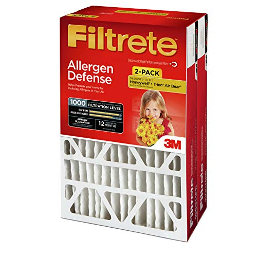 Filtrete 20x25x4, Ac Furnace Air Filter, Mpr 1000 Dp, Micro Allergen Defense Deep Pleat, 2 Pack