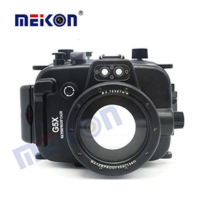 Meikon dslr camere bag waterproof underwater diving camera case for Canon G5X