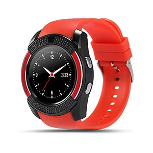 COLOFAN C04 Smart Watch Men and Women Bluetooth Smart Watches Can Plug Mobile Phone Card Phone Camera Sport Watch Pedometer (red)