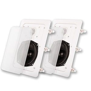 Acoustic Audio IW-191 in Wall Speaker Pair 2 Way Home Theater Surround Sound Speakers
