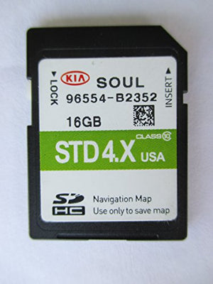 B2352 2014 2015 2016 KIA SOUL Navigation MAP Sd Card ,GPS UPDATE , U.S.A OEM PART # 96554-B2352 16GB OEM PART