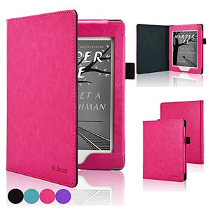 ACdream Nook GlowLight Plus 6inch Case[CAN NOT FIT Nook GLOWLIGHT 3 or 2019 New Nook Glowlight Plus 7.8 inch], Folio Premium PU Leather Cover Case for Barnes & Noble Nook GlowLight Plus, Hot Pink