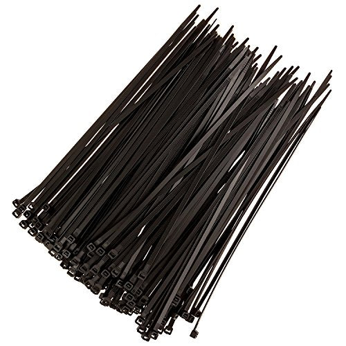 Strong Ties Altai-1 Cable Zip Ties, Premium Heavy Duty, Nylon Wire, 50 lb. Tensile Strength, Indoor Outdoor UV Resistant, Large, Black, 150 Piece