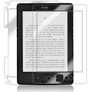 Skinomi Full Body Skin Protector Compatible with Amazon Kindle (2012)(Screen Protector + Back Cover) TechSkin Full Coverage Clear HD Film