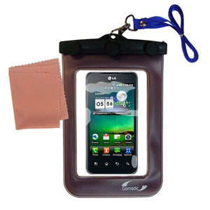 Gomadic Outdoor Waterproof Carrying case Suitable for The LG Optimus 2X to use Underwater - Keeps Device Clean and Dry