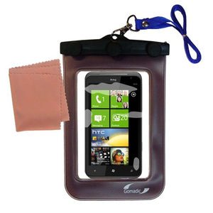 Gomadic Outdoor Waterproof Carrying case Suitable for The HTC Titan to use Underwater - Keeps Device Clean and Dry