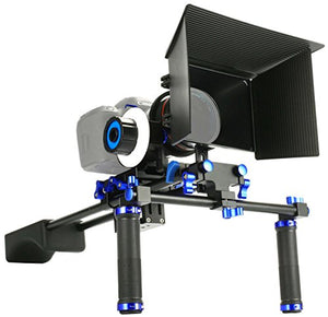 Sun Smart Pro Dslr Rig Video Camera Shoulder Mount Kit Including Dslr Rig Shoulder Support, Follow Fo