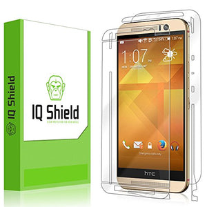 IQ Shield Full Body Skin Compatible with HTC One M9 + LiQuidSkin Clear (Full Coverage) Screen Protector HD and Anti-Bubble Film