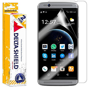DeltaShield Full Body Skin for ZTE Axon 7 Mini (2-Pack)(Screen Protector Included) Front and Back Protector BodyArmor Non-Bubble Military-Grade Clear HD Film