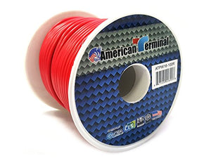 American Terminal ATPW16-100R 16 Gauge Primary Wire, Red