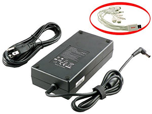 iTEKIRO 180W AC Charger Adapter for Asus 0A001-00260200, 0A001-00260300, 0A001-00260400, 0A001-00260500, 0A001-00260600, ADP-180MB F + 10-in-1 USB Charging Cable