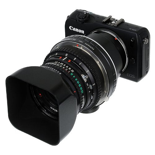 Fotodiox Pro Lens Mount Adapter - Hasselblad V Mount SLR Lenses (200/500/900/2000 System) to Canon EF-M Camera Body Adapter, fits EOS M Digital Mirrorless Camera