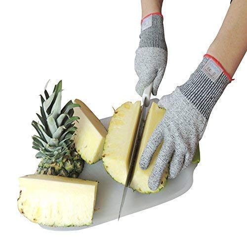 Cut Resistant Gloves with High Performance Food Grade Level 5 Protection for Your Hands Safety. Professional Gloves for Cutting, Chopping, Fish Filleting, Meat Cutting and Yard-Work 1 Pair (X-Large)