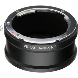 Vello F Mount Lens Adapter Compatible with Sony NEX Camera and Nikon