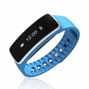 Bluetooth Wireless Smart Bracelet with Sleep Monitor Pedometer Calorie Counter Fitness Tracker for Android and IOS Smartphones (Blue)