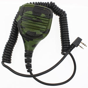 AOER Professional Heavy Duty Shoulder Remote Speaker Mic Microphone PTT for Camouflage Army 2-pin Kenwood TK-2202 TK-3202 TK-2206 TK-3206 TK-2207 TK-3207 TK-208 TK-308