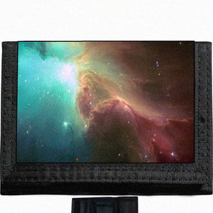 Nebula Space Black TriFold Nylon Wallet Great Gift Idea