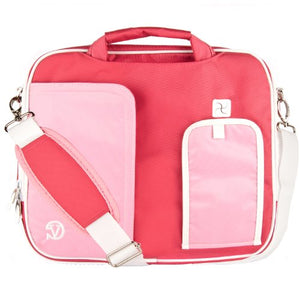 (Pink) Shoulder Bag For HP Pavilion, Stream, Split, X2, X360, EliteBook, ChromeBook, 11 to 13.3 inch Laptops