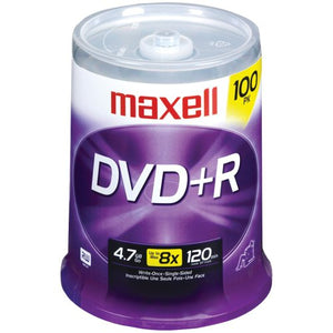 MAXELL 639016 4.7 GB DVD+RS (100-CT SPINDLE)