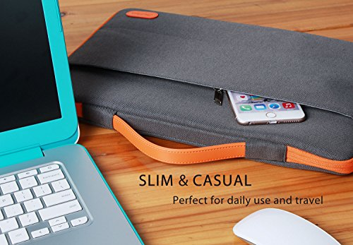 "ProCase 14-15.6 Inch Laptop Sleeve Case Protective Bag, Ultrabook Notebook Carrying Case Handbag for 14"" 15"" 15.6"" Dell Lenovo HP Asus Acer Samsung Sony Toshiba Chromebook Computers -Dark Grey"