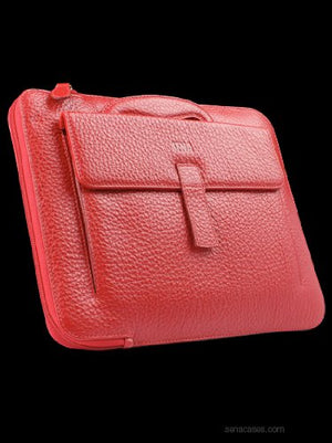 Sena Collega Luxurious Designer Compact All-in-one Leather Case for The new iPad (3rd Generation) - Red