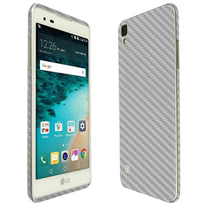 Skinomi Silver Carbon Fiber Full Body Skin Compatible with LG Tribute HD (LS676, Boost Mobile, Virgin Mobile)(Full Coverage) TechSkin with Anti-Bubble Clear Film Screen Protector
