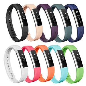 AK Replacement Bands Compatible with Fitbit Alta Bands/Fitbit Alta HR Bands (10 Pack), Replacement Bands for Fitbit Alta/Alta HR (10 pcs-a, Small)