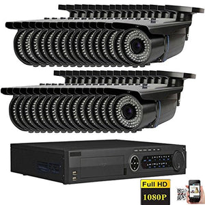 Amview 32CH HD Hybrid 1080P HDMI DVR with HD 1800TVL CCTV Surveillance Security Camera System