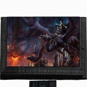 Dragon Slayer Black TriFold Nylon Wallet Great Gift Idea