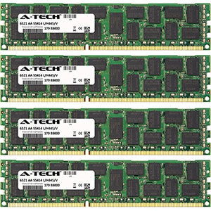 A-Tech 32GB KIT (4 x 8GB) For HP-Compaq ProLiant Series BL490c G7 Server Blade DL120 G6 (ECC Registered Quad Rank) DL160 G6 (625544-B21). DIMM DDR3 ECC Registered PC3-8500 1066MHz Quad Rank RAM Memory