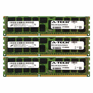 A-Tech Micron 24GB Kit 3X 8GB PC3-10600 1.35V for HP ProLiant SL270S G8 500658-B21 DL170E G6 SL4540 G8 BL2X220C G6 BL2X220C G7 500203-061 BL420C G8 BL460C G8 BL490C G7 500658-S21 Memory RAM