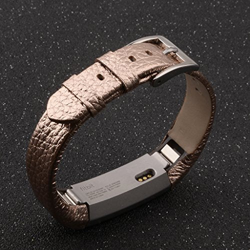 Henoda Replacemnt Leather Bands Compatible With Fitbit Alta/Fitbit Alta Hr, Classic Genuine Leather