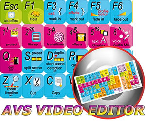 NEW ONLINE MEDIA TECHNOLOGIES AVS VIDEO EDITOR KEYBOARD STICKER FOR DESKTOP, LAPTOP AND NOTEBOOK