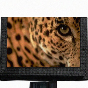 Leopard cheetah Black TriFold Nylon Wallet Great Gift Idea