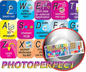 NEW ARCADIA SOFTWARE PHOTOPERFECT KEYBOARD STICKER FOR DESKTOP, LAPTOP AND NOTEBOOK