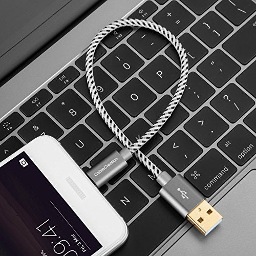 Short Usb C Cable, Cable Creation 0.5ft 6 Inch Usb C To A Cable Braided 3 A Fast Charge, Compatible Wi
