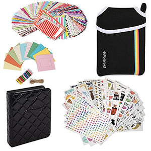 Deluxe Bundle - 9 Unique Sticker Sets + Neoprene Pouch + Photo Album + 100 Sticker Border Frames + Hanging Frames for 2x3 HP Sprocket, LG, Prynt, Lifeprint Printer Projects