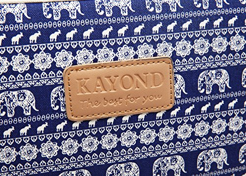 Kayond KY-23 Canvas Fabric Sleeve for 11-11.6 Inch Laptops - Elephant Patterns