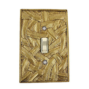 Meriville Island 1 Toggle Wallplate, Single Switch Electrical Cover Plate, Antique Gold