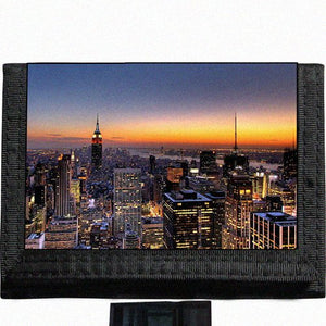 New York City Black TriFold Nylon Wallet Great Gift Idea