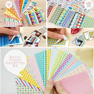 60 Sheets Scandinavian/Fabric/Pastel Color Pattern for Mini Film FujiFilm Instax Mini 8 9 7s 25 50s 90 Sticker Borders