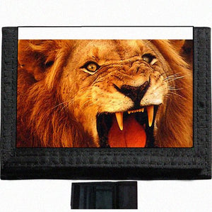 Lion Black TriFold Nylon Wallet Great Gift Idea