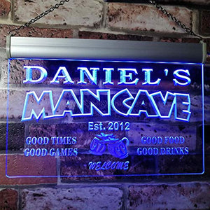Advpro X0012 Tm Daniel's Man Cave Bar Custom Personalized Name & Date Neon Sign