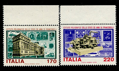 Italie-1372-1373 timbres poste