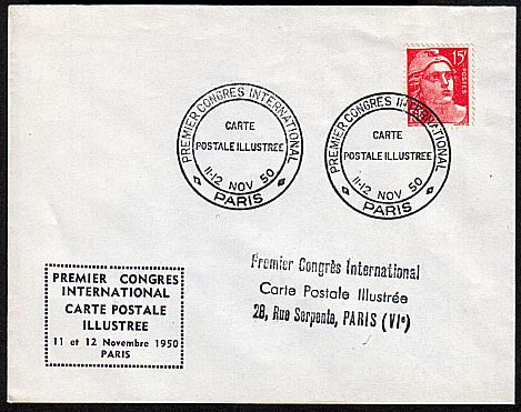 L2523 Premier Congrès International de la carte postale illustrée