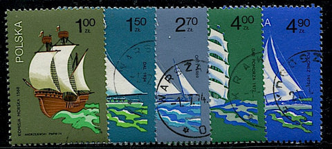 Pologne-2157-2161 voiliers